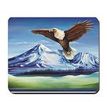 Eagle Above Mt Shasta Mousepad