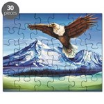 Eagle Above Mt Shasta Puzzle