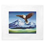Eagle Above Mt Shasta King Duvet