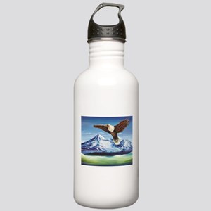 Eagle Above Mt Shasta Water Bottle