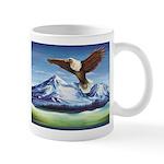 Eagle Above Mt Shasta Mugs