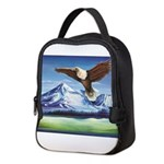 Eagle Above Mt Shasta Neoprene Lunch Bag