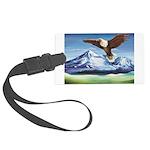 Eagle Above Mt Shasta Luggage Tag