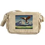 Eagle Above Mt Shasta Messenger Bag