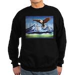 Eagle Above Mt Shasta Sweatshirt