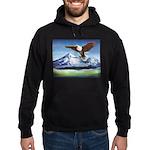 Eagle Above Mt Shasta Hoodie