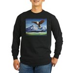 Eagle Above Mt Shasta Long Sleeve T-Shirt