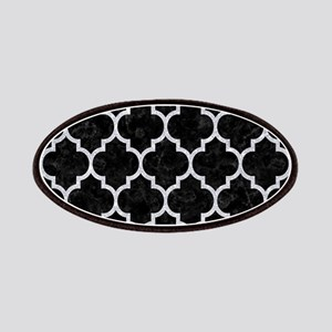 TILE1 BLACK MARBLE & SILVER GLITTER (R) Patch