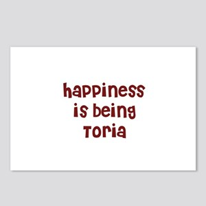 happiness is being Toria Postcards (Package of 8)