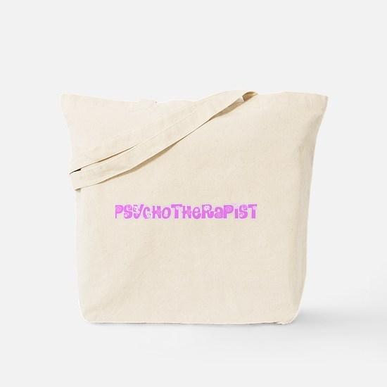 Psychotherapist Pink Flower Design Tote Bag