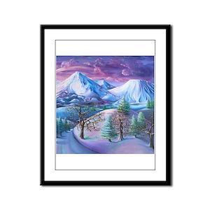 Mt Shasta Sunrise Framed Panel Print