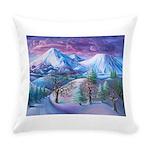 Mt Shasta Sunrise Everyday Pillow