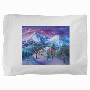 Mt Shasta Sunrise Pillow Sham