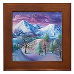 Mt Shasta Sunrise Framed Tile