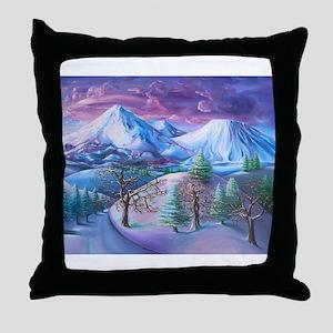 Mt Shasta Sunrise Throw Pillow