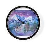 Mt Shasta Sunrise Wall Clock
