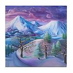 Mt Shasta Sunrise Tile Coaster