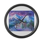 Mt Shasta Sunrise Large Wall Clock