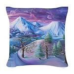 Mt Shasta Sunrise Woven Throw Pillow