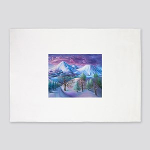 Mt Shasta Sunrise 5'x7'Area Rug
