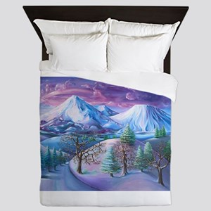 Mt Shasta Sunrise Queen Duvet