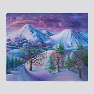 Mt Shasta Sunrise Throw Blanket