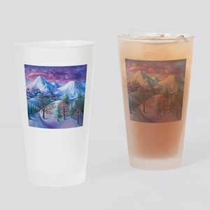 Mt Shasta Sunrise Drinking Glass
