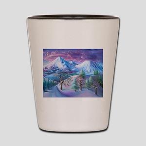 Mt Shasta Sunrise Shot Glass