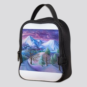 Mt Shasta Sunrise Neoprene Lunch Bag