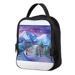 Mt Shasta Sunrise Neoprene Lunch Bag