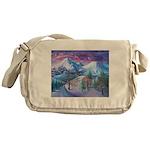 Mt Shasta Sunrise Messenger Bag