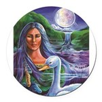 Indian Goddess Round Car Magnet