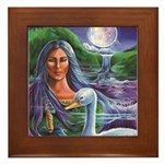 Indian Goddess Framed Tile