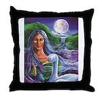 Indian Goddess Throw Pillow