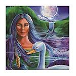 Indian Goddess Tile Coaster