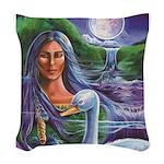 Indian Goddess Woven Throw Pillow