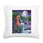 Indian Goddess Square Canvas Pillow
