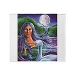 Indian Goddess Throw Blanket