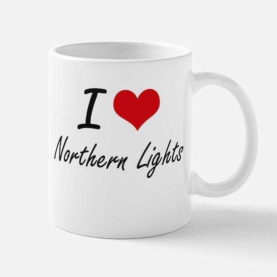 I Love Northern Lights Mugs