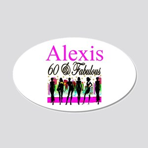 TURNING 60 20x12 Oval Wall Decal