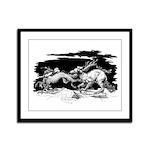 Saluki and Dragon<br> Framed Panel Print