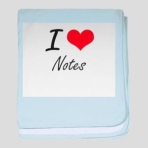 I Love Notes baby blanket