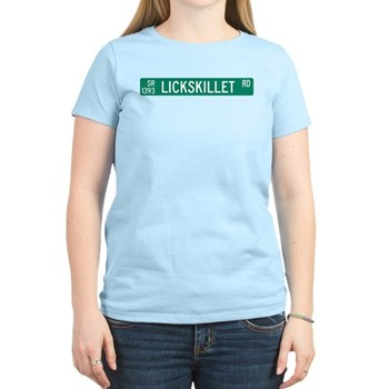 Lickskillet Road, Burnsville (NC) Women's Light T-