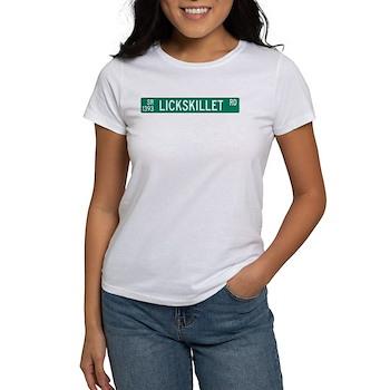 Lickskillet Road, Burnsville (NC) Women's T-Shirt