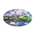 Mirror Oval Car Magnet
