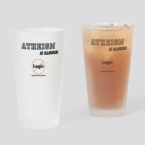 Atheism is Illogical Drinking Glass