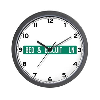 Bed & Biscuit Lane, Black Mountain (NC) Wall Clock