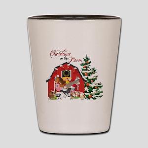 Christmas on the Farm Shot Glass