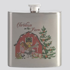 Christmas on the Farm Flask