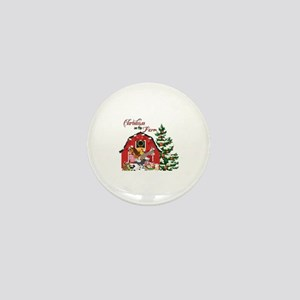 Christmas on the Farm Mini Button